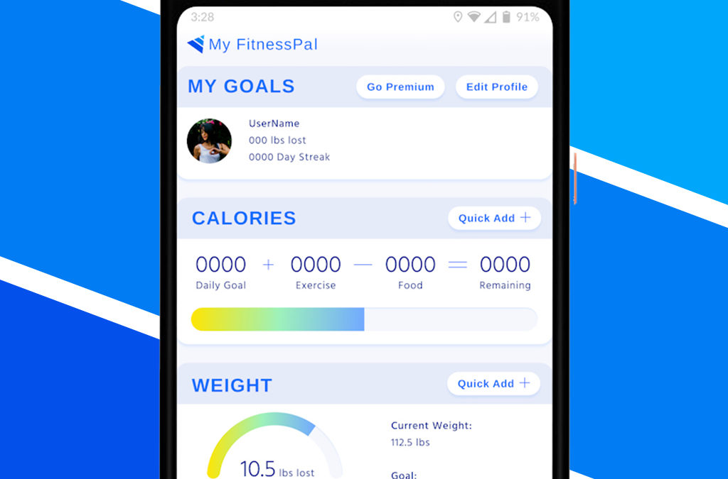 My  FitnessPal UI, UX & Visual Design